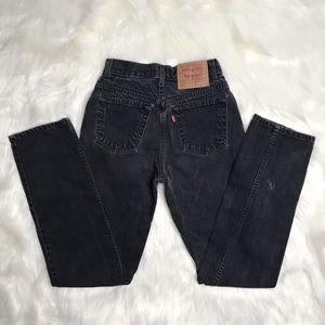 Vintage Levi's Black High Waisted Jeans 512